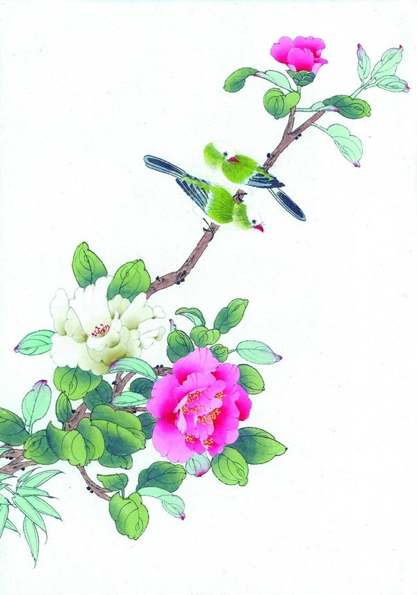 中国国花牡丹简笔画_国花简笔画