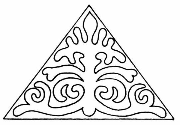 民间艺术图 三角形