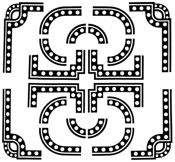 长方形几何花纹