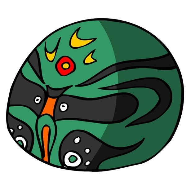 中国民间艺术-脸谱 京剧脸谱 绿脸 黑花纹