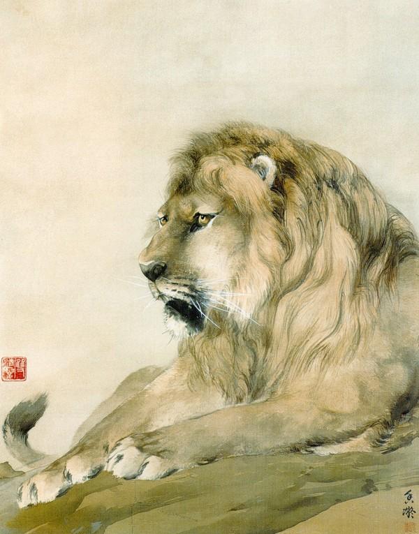 狮 图,花鸟名画图片 中国现代名画图,中国现代名画,花鸟名画,