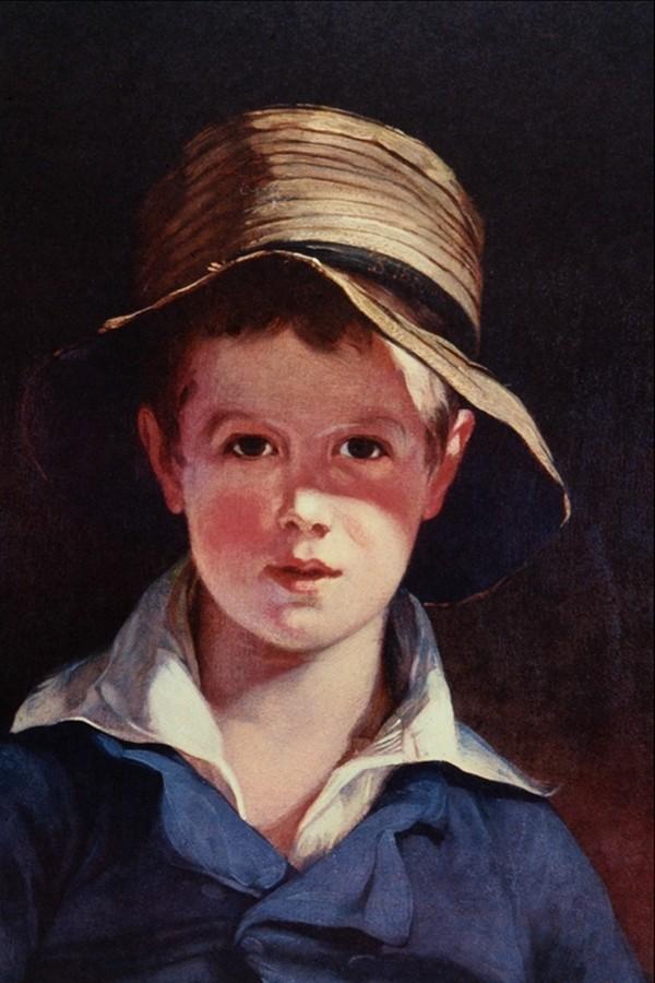 幼年 男孩 人物画 肖像油画-国外传世名画-国外传世名画,肖像油画