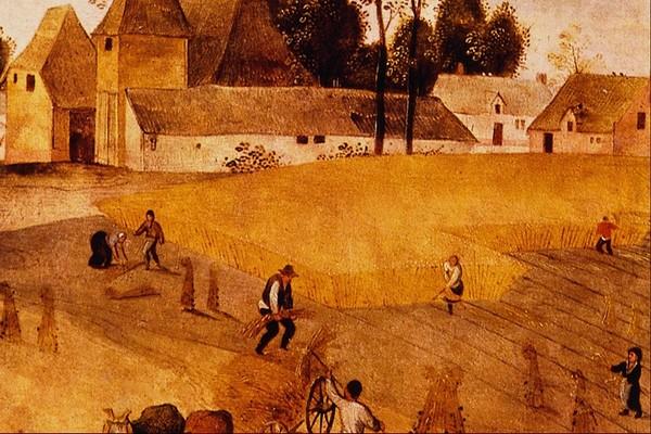 庄稼 田园 风光 风景油画-国外传世名画-国外传世名画,风景油画