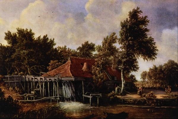 房子 风景油画-国外传世名画-国外传世名画,风景油画