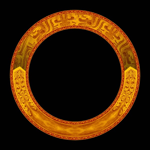 圆圈 金色 古典小品-设计组件素材-设计组件