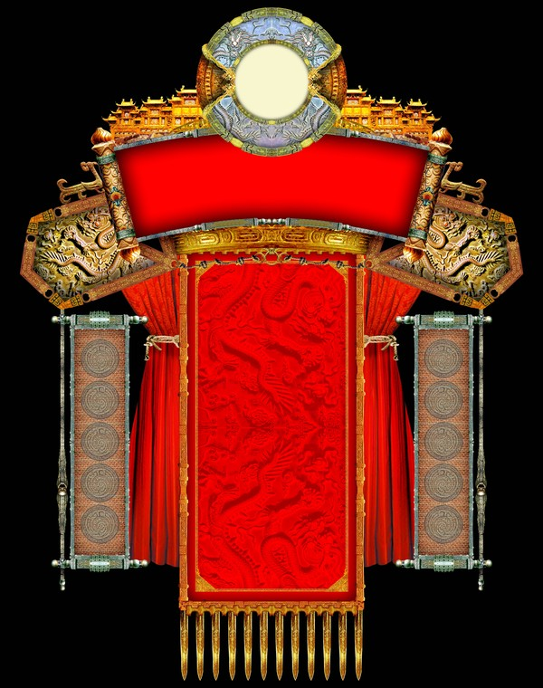设计组件素材-古典边框 彩灯装饰框