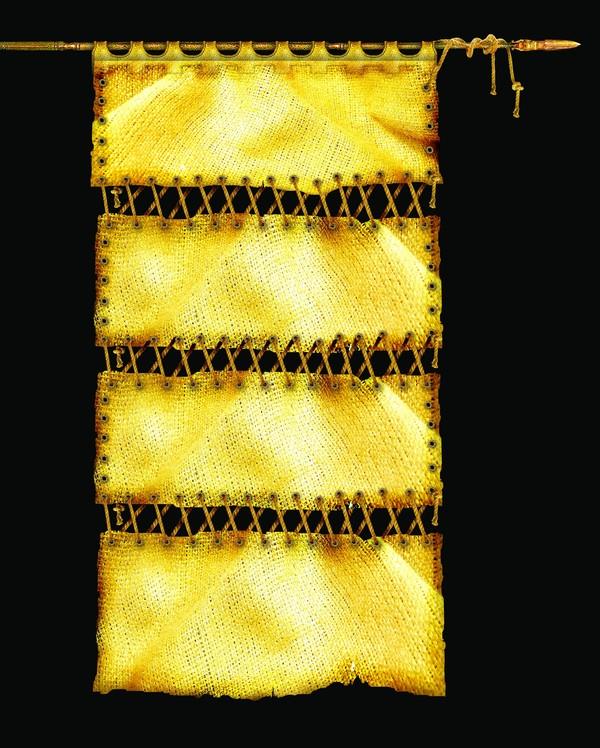 设计组件素材-古典边框 旗子 黄色 边框
