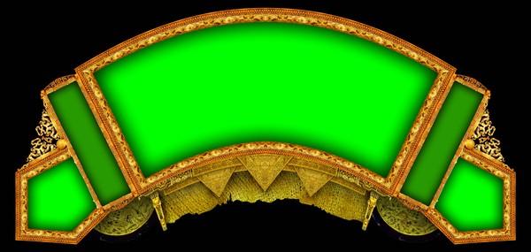 扇形 绿色 三角 古典边框-设计组件素材-设计组件素材,古典边框