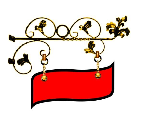 金属花 红色吊牌 花边设计 金属边框-设计组件素材-设计组件素材,金