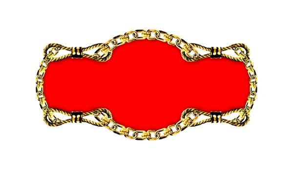 红色背景色 金属边框-设计组件素材-设计组件素材,金属边框
