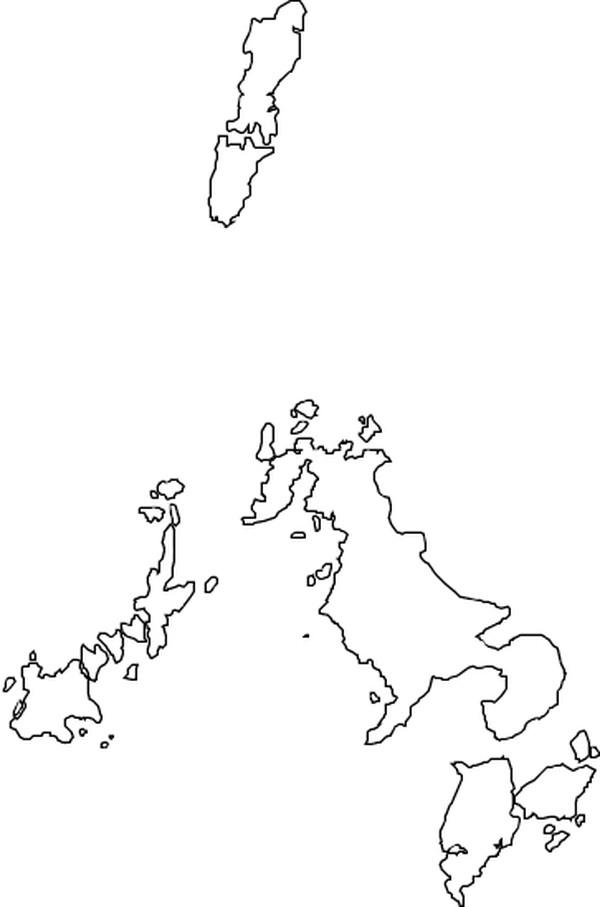 黑白色手绘地图