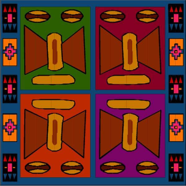 方形花纹; 2010新款 全棉印花环保方巾
