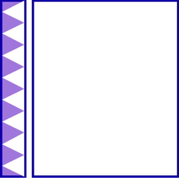 可爱花边边框正方形简笔画 简单