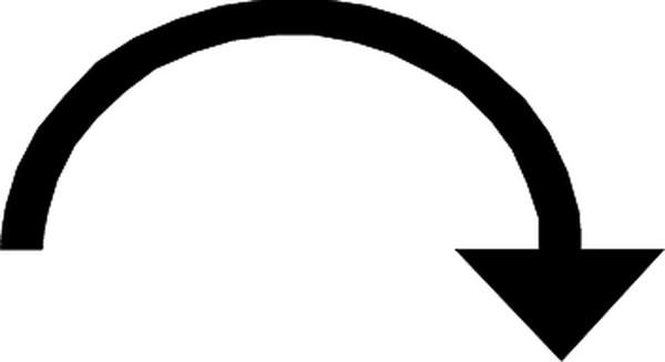 转弯箭头图片-标识符号图