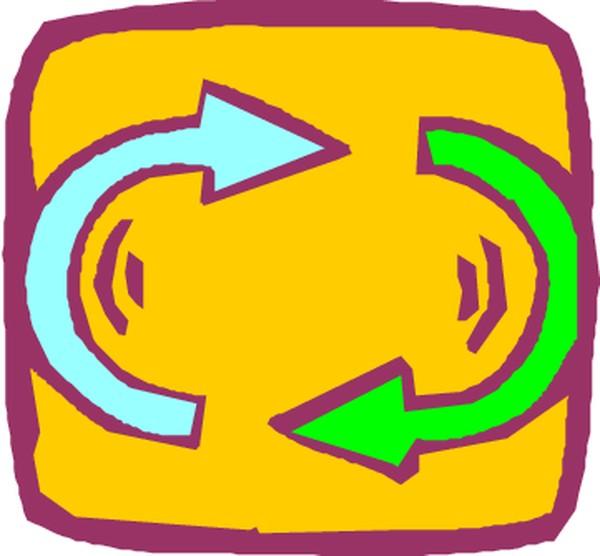 半圆曲线箭头矢量图