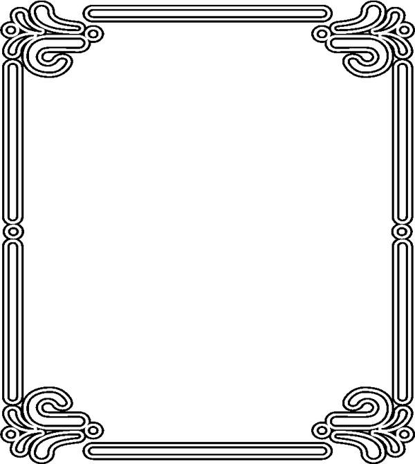 黑白边框素材大图 黑白花纹素材矢量图 黑白边框素材大图