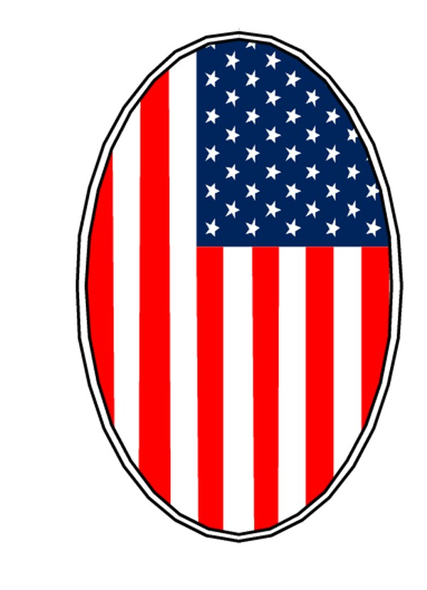 美国旗帜 季节装饰-边框背景-边框背景,季节装饰