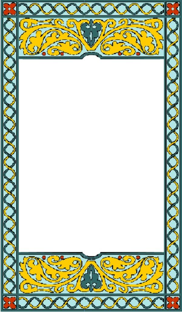 蒙古族边框 素材