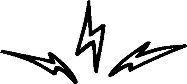 闪电 漫画元素-边框背景-边框背景,漫画元素