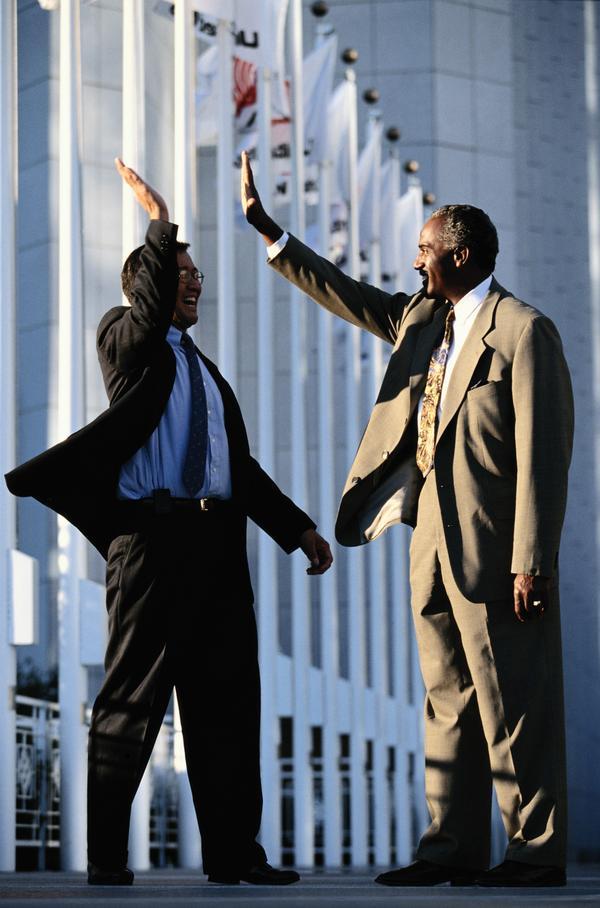 商务百态图片 商业金融图 击掌 问候 打招呼,商业金融,商务...
