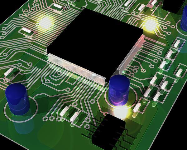 电路板 连接 集成电路 科技模型-科技-科技,科技模型