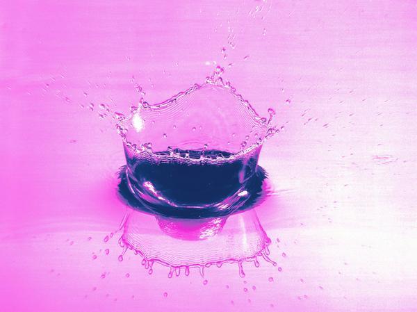 紫色 水花 溅洒 滴水领域-自然风景-自然风景,滴水领域