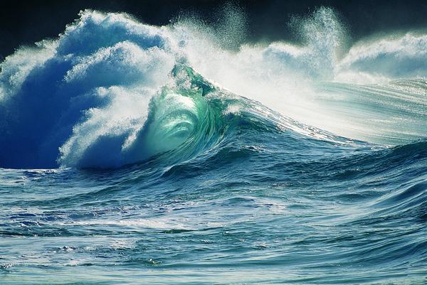 自然风景-海波极景 海啸 狂风 海浪