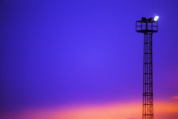 灯塔 夜间 指航灯 黄昏夜景-自然风景-自然风景