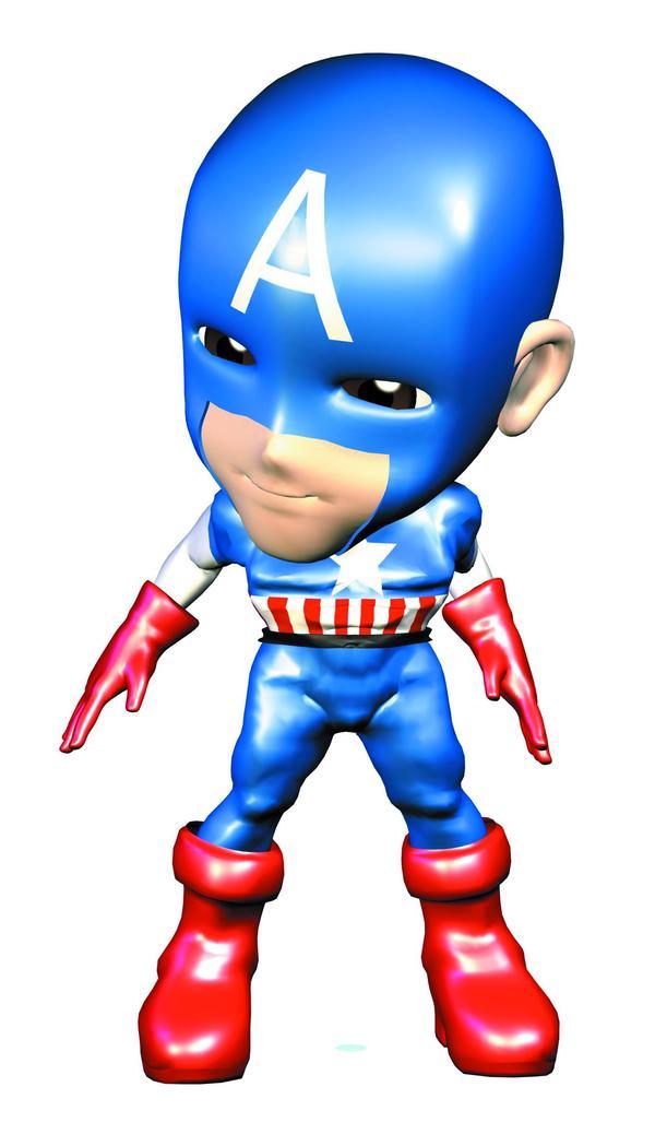 漫画卡通-卡通人物 未来战士 蓝色头套 大红皮鞋