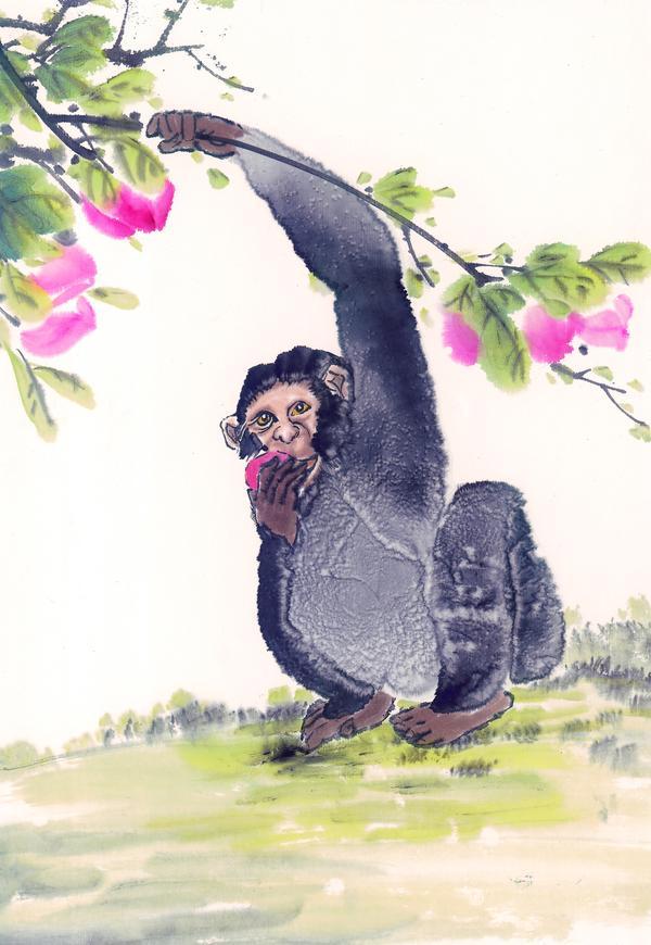 动物 水墨画 意境 中国动物画-山水名画-山水名画,中国动物画