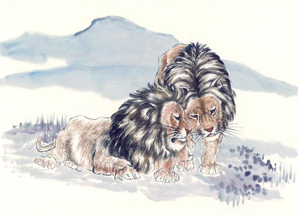 中国动物画-山水名画-山水名画