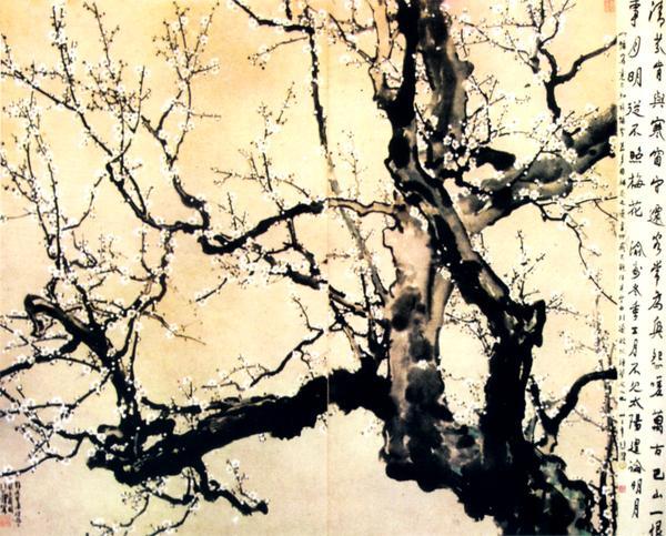 徐悲鸿作品集图片 中国传世名画图 树枝 树木 梅花,中国传世名画,