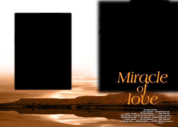 婚纱摄影-浪漫背景 黑框 平面模板