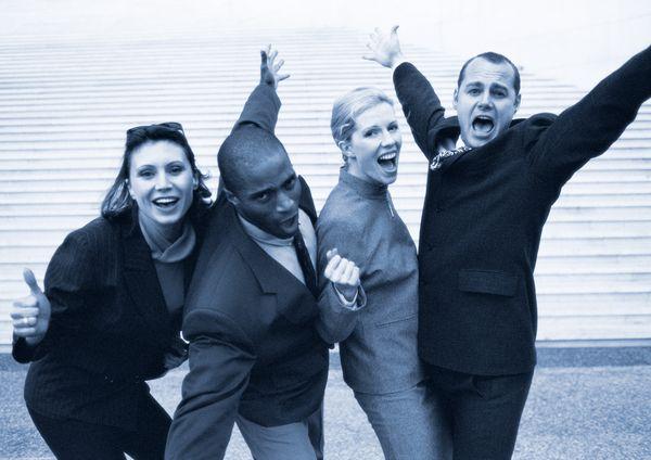 商业表情图片 商业情景图 成功 庆祝 欢腾,商业情景,商业表...