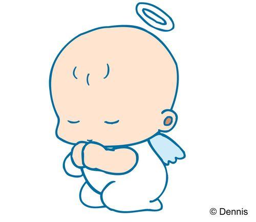 时尚矢量插画-小天使 小天使 可爱造型 天使光圈
