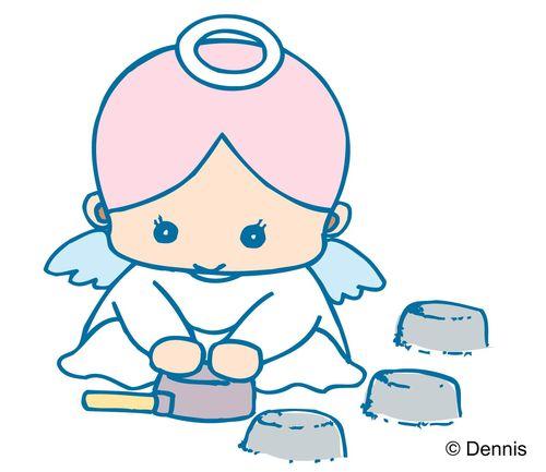 小天使图片-时尚矢量插画图