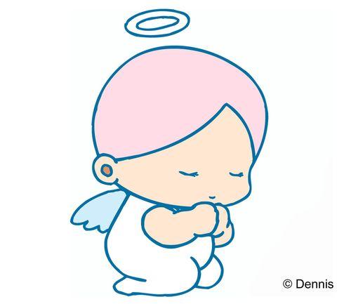 天使图片-时尚矢量插画图 安琪儿 天使 祈祷,时