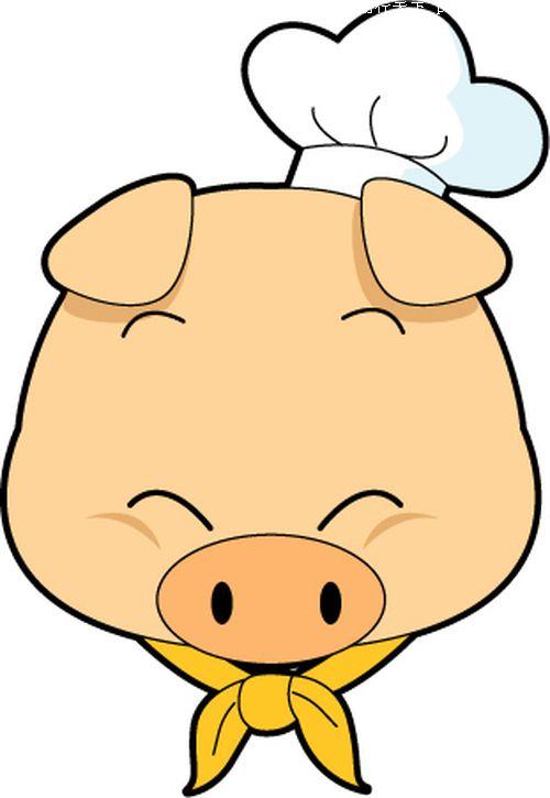 猪图片-时尚矢量插画图