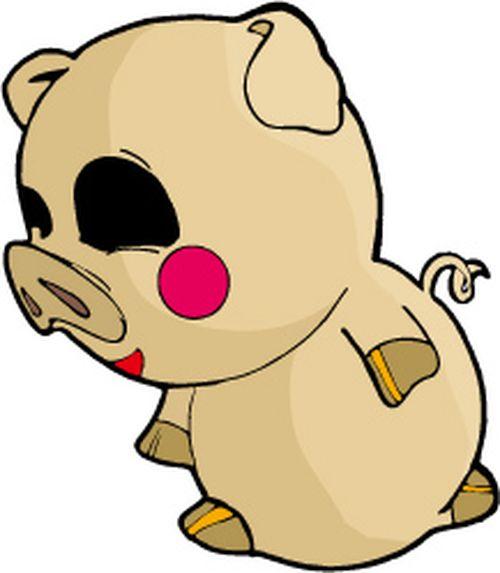 小动物 卡通设计 猪-时尚矢量插画-时尚矢量插画,猪