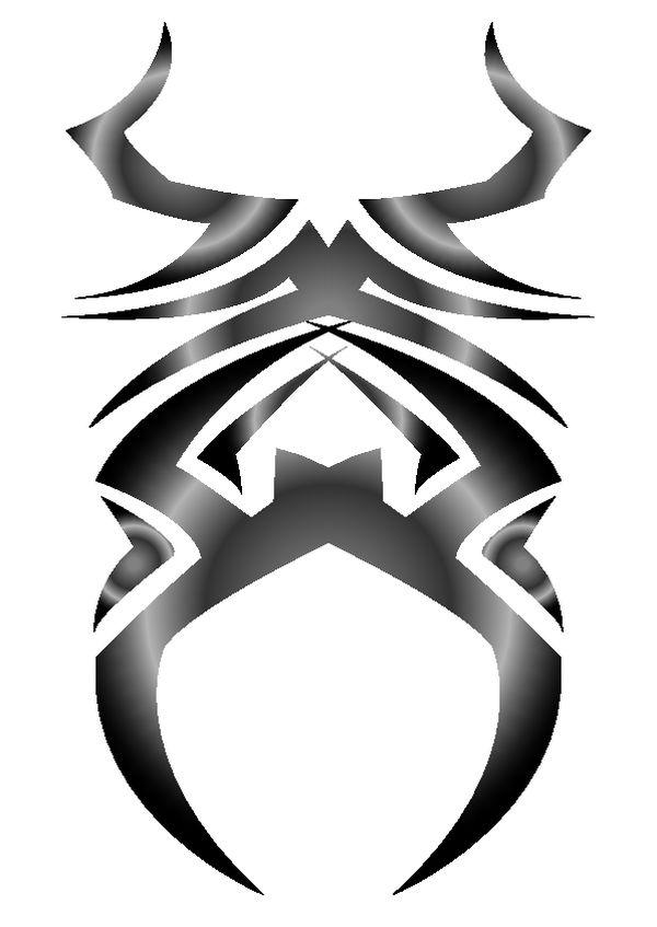黑白魔幻花纹素材