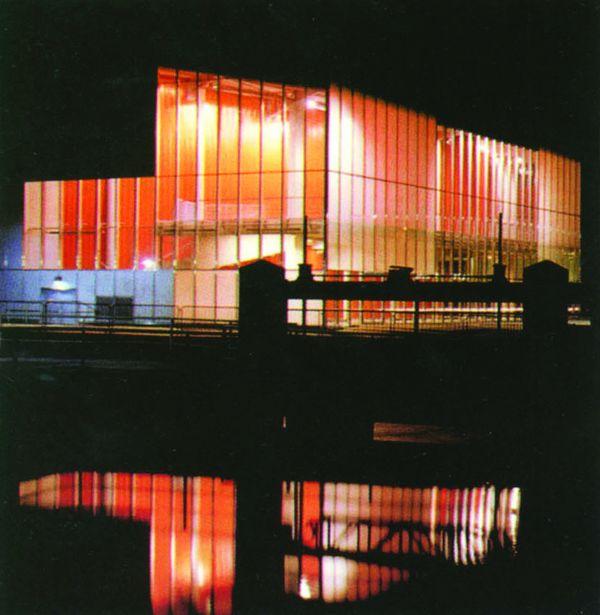 法国图片-世界建筑设计图 倒影 水池 夜景,世界建筑