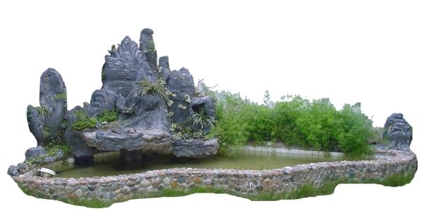 假山石头图片 假山与喷水池图