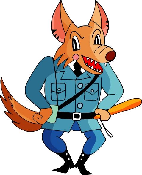 卡通形象图片-动物图 大灰狼