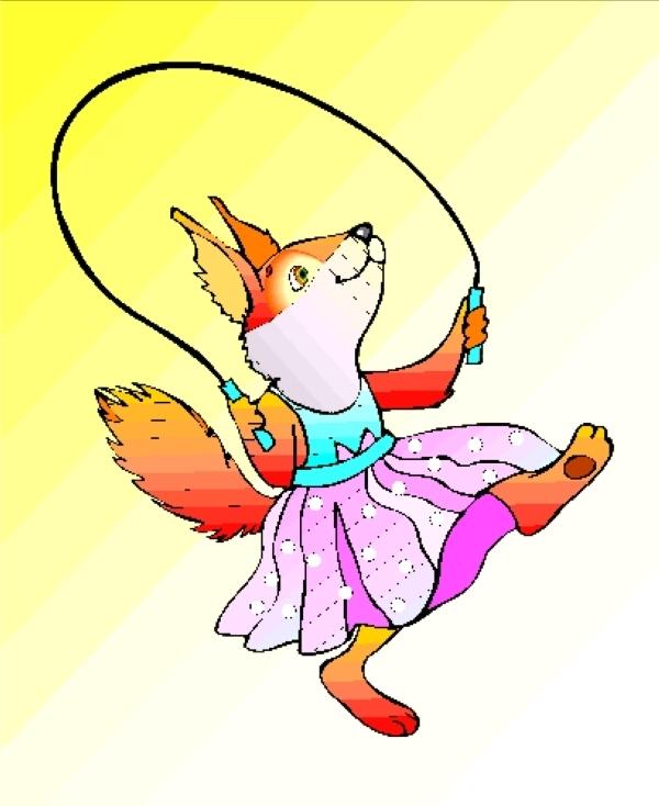 动物剪影形象 狐狸 小狗