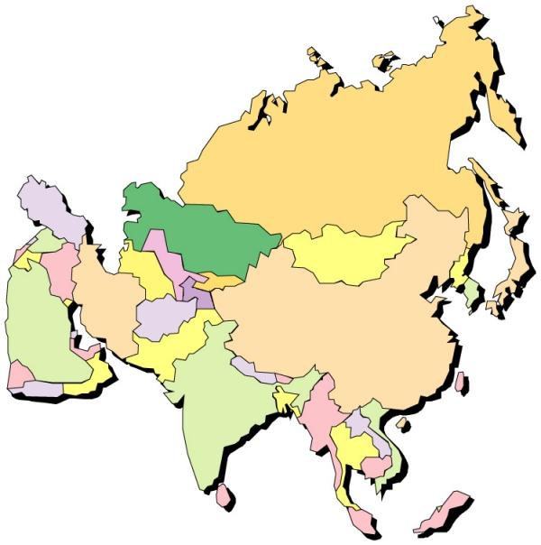 世界地图,名胜地理,世界地图0035