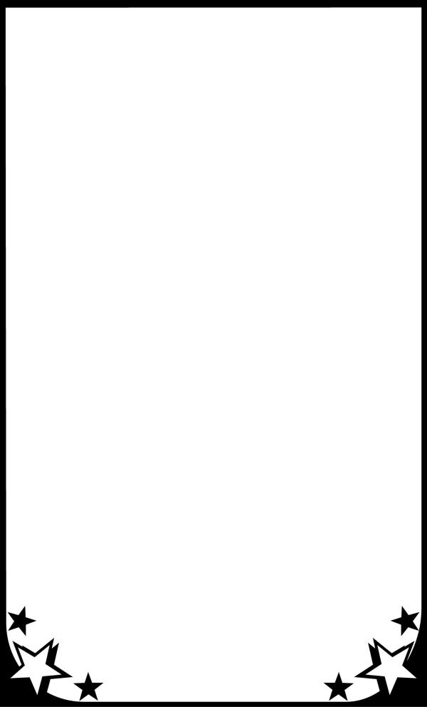 简单可爱黑白边框