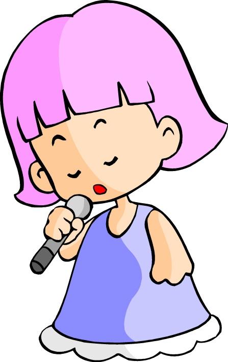 唱歌 麦克风 儿童休闲-漫画卡通-卡通形象