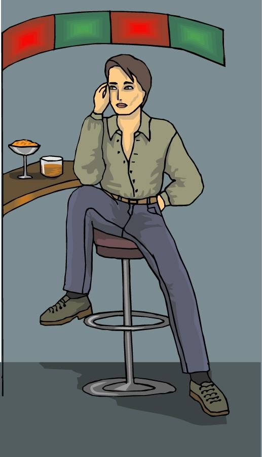 坐椅子的卡通图片
