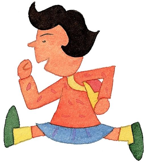 跑步 儿童-插画-插画,儿童,illustrations,children