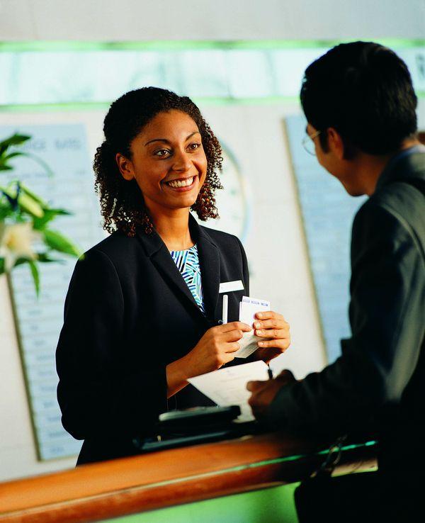 商旅生活图片 商业金融图 宾馆 前台 询问,商业金融,商旅生...